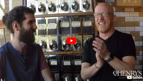 OHenry's Coffee beards and brew tasting