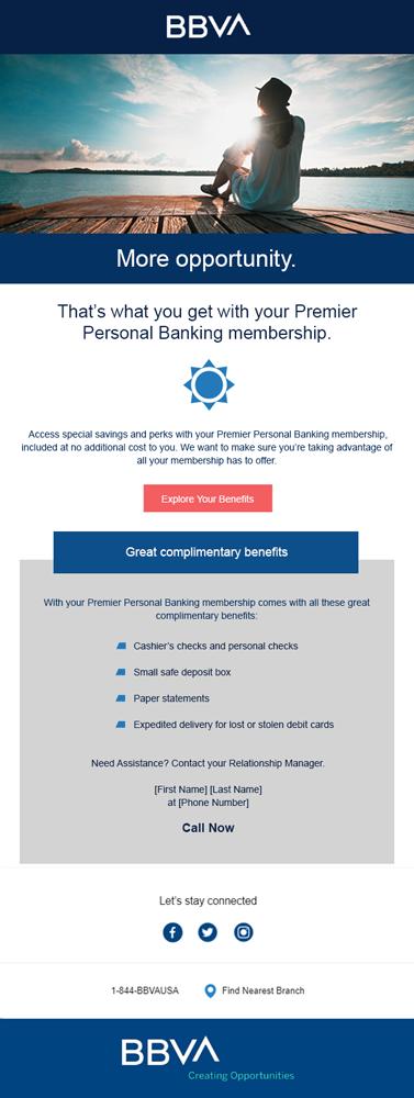 BBVA Bank Email Design